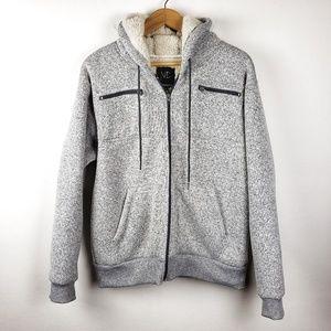 Modern Culture | Gray Fleece Hoodie Jacket Large